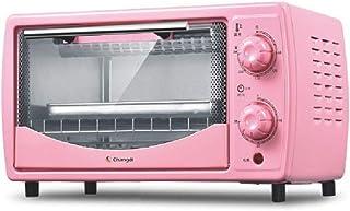 Toaster oven Mini Horno Tostador de 10 litros, Horno Compacto para el hogar, Calentamiento de los Tubos Superior e Inferior, Temporizador de 60 Minutos, 700 W de Potencia, Rosa