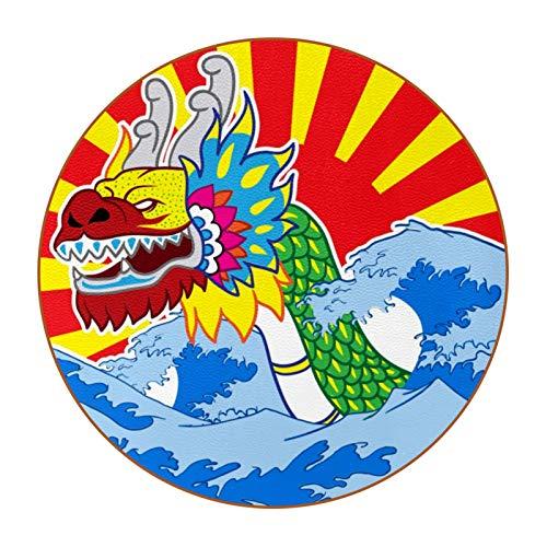6 posavasos con diseño personalizable y texto para decoración de casa, registro de boda, decoración de habitación, festival de barco de dragón de China