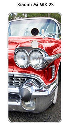 Onozo–Carcasa de Protección en TPU Gel para Xiaomi Mi Mix 2S, diseño de Coche Americaine Rojo