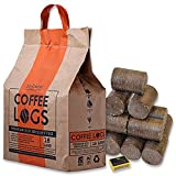 Tigerbox Coffee Logs and Safety Matches Carbon Neutral Extra Hot Solid Fuel Made from Recycled Coffee