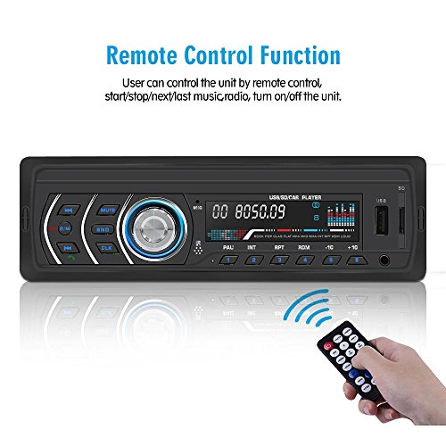1Din Car Stereo Player Car Radio FM and MP3 Wireless Receiver Aux with USB Port and SD Card Music Universal Player JQ1581