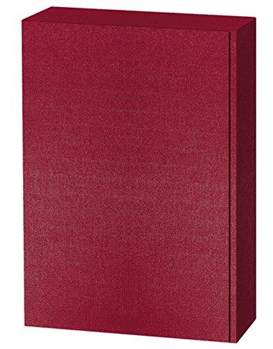 5 Stück Set! Edler Weingeschenkkarton 3er bordeaux rot, Leinenoptik Design. Edle Wein Geschenkverpackung für drei Flaschen, Leinen Struktur, einfarbig. Exklusiver Präsentkarton für Ihr Weingeschenk