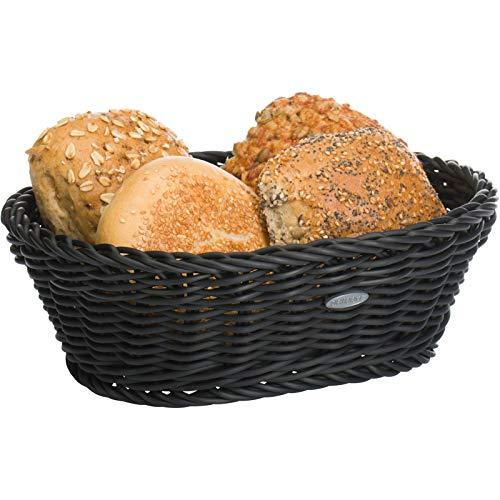 Saleen Mehrzweck-Korb, Gastrotauglich, Oval, 25,5 x 19 x 8 cm, Kunststofffaser, Schwarz, 02056019101