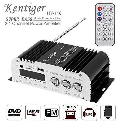 Car Audio High Power Amplifier 2.1CH Super Bass HI-FI Player Support SD/USB/DVD / MP3 with Remote Controller for Car Motorcycle Home