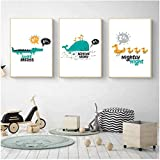 Impresiones para Paredes 3 Piezas 50x70cm Sin Marco Pato de Dibujos Animados Póster nórdico Imagen Decoración del hogar Niños Dormitorio Sala de Estar Decoración del hogar Pintura