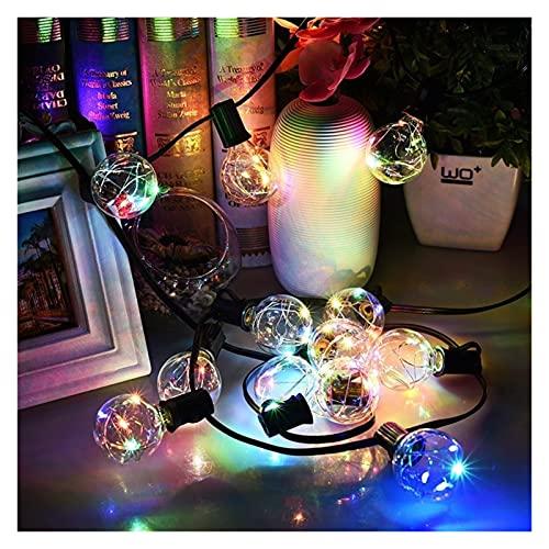 Luces de cadena al aire libre, 30 luces LED de jardín Luces de cadena de patio trasero Luces de cerca Impermeable multicolor para fiestas en el jardín del hogar Decoración de festivales de jardín Boda