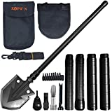 Folding Shovel and Camping Multitool - Kopwin Survival Shovel Heavy Duty Blade. Portable and Lightweight Military Grade Camp Shovel and Entrenching Tool for Hiking, Snow, Backpacking, and Car Safety.
