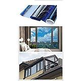 FYZS Ventanas Unidireccional de privacidad lámina for ventanas, la ventana de cristal de la película, la película solar, reflexiva película de la ventana, ventana de seguridad de la película, UV lámin