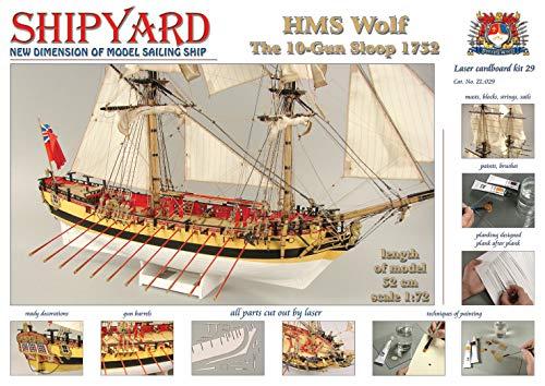 Model Ship Yard HMS Wolf laser-cut kit