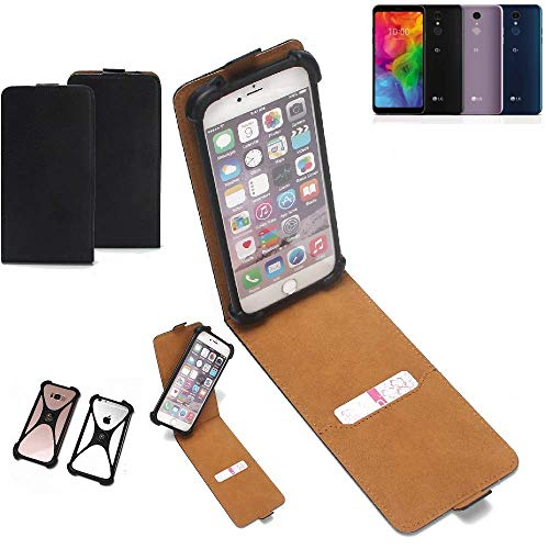 K-S-Trade® Handy Schutz Hülle Für LG Electronics Q7 Alfa Schutzhülle Bumper Schwarz 1x