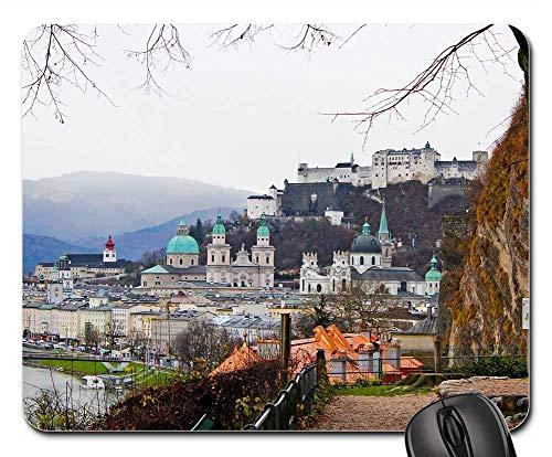 Preisvergleich Produktbild Mausunterlage - Reise-Landschaft Österreichs Salzburg Europa österreichisch