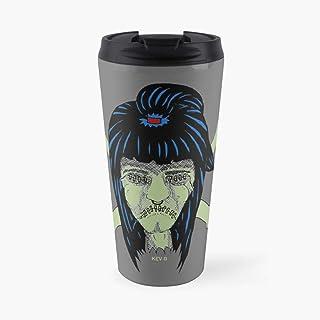 Saiteinses Mugs Voodoo Shrunken Head Art By Kev G Travel Mug Premium Ceramic Coffee Mug,Latte Mug, Stainless Steel Travel Mug.