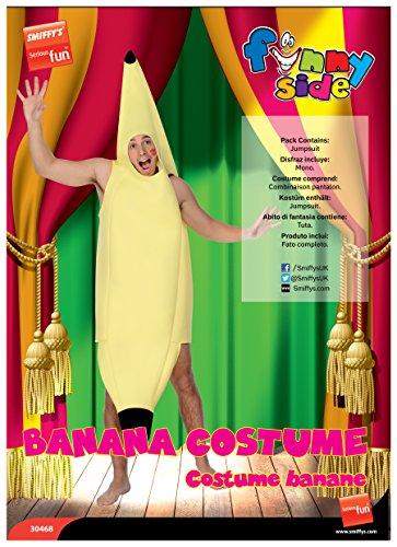 Smiffy's- Banana Costume, Colore Giallo, Taglia unica, 30468