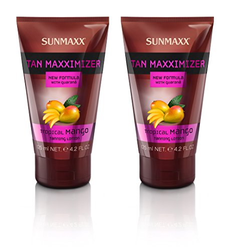 Sunmaxx Tan Maxximizer Tropical Mango Tanning Lotion 2 X 125 ml Sparpack