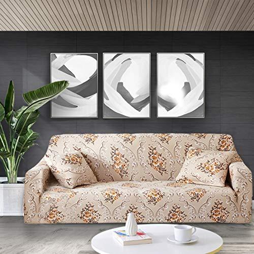 WXQY Funda de sofá elástica con Estampado Floral Fundas de sofá Fundas de sofá para Sala de Estar Sofá de Esquina Toalla Funda de sofá Funda para Muebles A3 1 Plaza