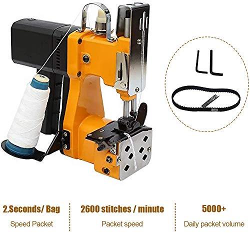 Máquina de coser portátil Vogvigo Máquina de embalaje industrial eléctrica para bolsa de piel de serpiente Bolsa de plástico Bolsa de papel Saco, amarillo (220V)