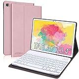 Funda Teclado Español Ñ para Samsung Galaxy Tab A7 10.4' 2020,JADEMALL Bluetooth Teclado Inalámbrico Desmontable Magnético Funda Protectora para Samsung Tab A7 2020 10.4 Pulgadas T500/T505/T507 Tablet