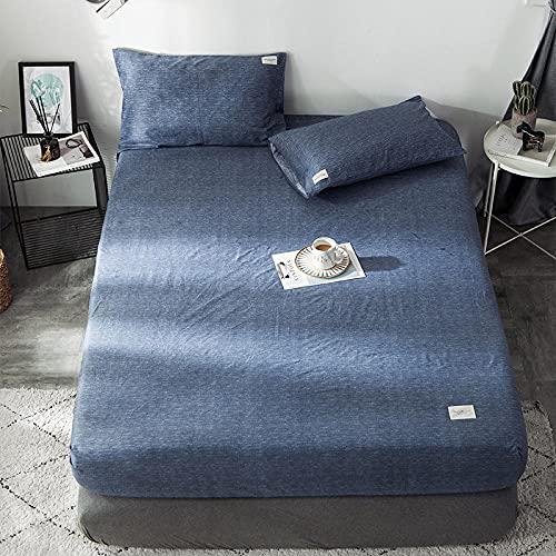 CYYyang colchón Acolchado, antialérgico antiácaros, Sábana de algodón Cubierta Completa-4_120 * 200cm