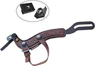 SpiderPro Padded Hand Strap for Cameras (Kodiak) with Optional Snap-On Wrist Strap Included w/ 2 Ivation Quick Release Pla...