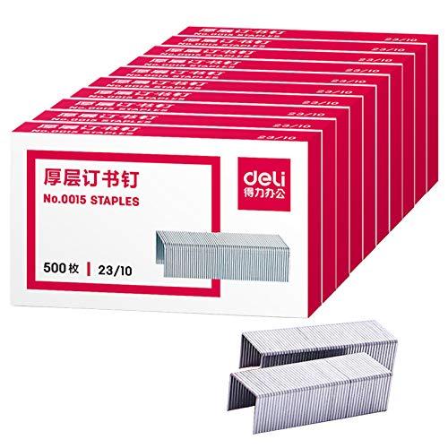 5000 Tackerklammern 12 mm Heftklammern Tacker-Klammern Geeignet für Hefter der Größe 23/10 oder 23/23,Heftklammern zum Befestigen von Stoffen, Leder, Textilien sowie zum...
