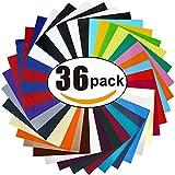 BURVAGY HTV Heat Transfer Vinyl: 36 Pack...