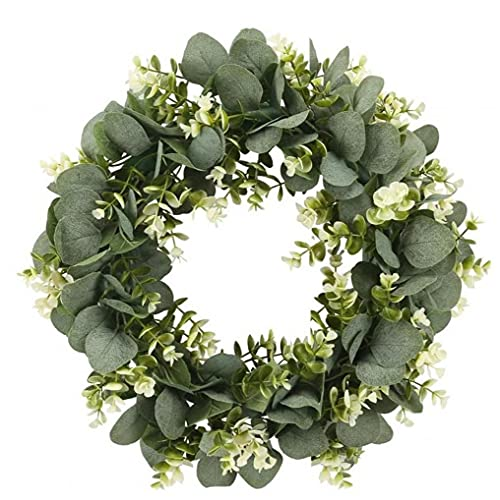 Garland Vines Hanging, Artificial Eucalyptus Garland Faux Eucalyptus Leaves Vines Handmade Plastic Garland Greenery Hanging Plant Wedding Backdrop Arch Wall Table Party Decor