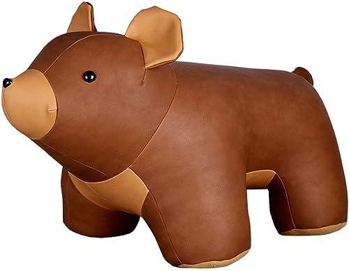 ventas calientes MayliF - Diván de de de piel sintética con Diseño de animales, para decoración de ventanas, habitación de los Niños, juguete de animal, sofá de juguete, carga de 175 libras marrón Bear  tienda de venta en línea