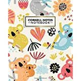 Cornell Notes Notebook: Colorful Woodland Cornell Note Medium Lined Paper Notebook | Large College Ruled Journal Note Taking System for School and University | Cute Baby Koala Bear print for Kids