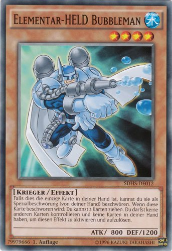Yugioh Elementar-HELD Bubbleman SDHS-DE012 common