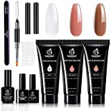 Beetles Poly Nail Gel Extension Gel Kit for Builder Gel Nail Gel Nail Art Design Nail Extension Gel Nail Salon All-in-One French Kit Easy DIY at Home