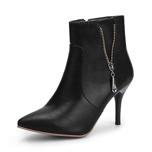 6b6fa30da15 OCHENTA Women s Dressy Pointed Toe Stiletto High Heel Ankle Boots
