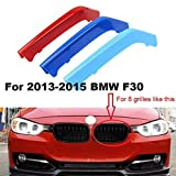 BizTech  Parrillas de Coche Inserciones Rayas decoración para BMW 3 Series F30 M3 2013-2015 8 Rejillas M Power M Sport Tech