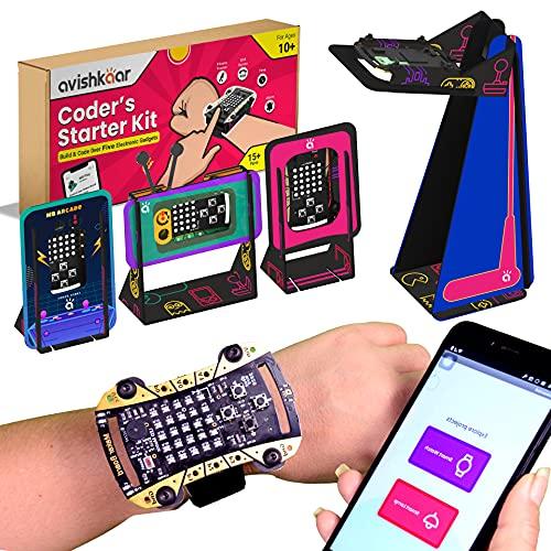Avishkaar Coder's Starter Kit, Multicolor, 10+ Years, 15+ Parts, 5 Gadgets, Learn Coding & Hands-On Skills