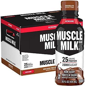 12-Pack Muscle Milk Genuine Protein Chocolate Shake
