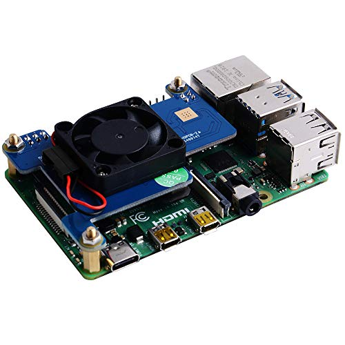 GeeekPi Raspberry Pi 4 PoE HAT Support IEEE 802.3af or 802.3at PoE standard,With Raspberry Pi Cooling Fan 30x30x7mm for Raspberry Pi 4 Model B / 3B+ 3B Plus