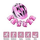 LVPY Set di Casco per Bambini - 7 Pezzi Regolabile Casco Bici Protezioni Set con elmetto Protezione...