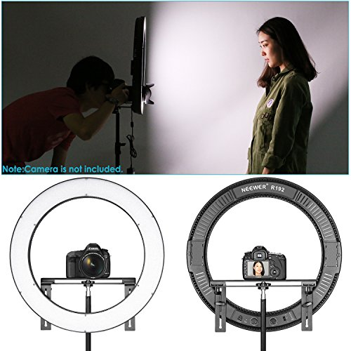 Neewer Photo Studio LED Ring Light Lighting Kit -(1)19 inches Dimmable Bi-color SMD LED Ring Light with Bracket,(2)Li-ion Battery,(2)Battery Chargers,(1)2-Meter Light Stand for Portrait Video Shooting
