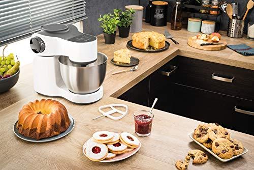 Krups KA3121 Master Perfect Küchenmaschine (1000 Watt, Gesamtvolumen: 4 Liter, inkl.: Back-Set, Aufsatz Schnitzelwerk mit Reibekucheneinsatz) weiß - 4