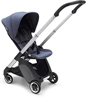Bugaboo Ant Baby Stroller - Lightweight Stroller - Foldable Stroller - Travel and Compact Storage - Fits in Overhead Compartments - Reversible and Reclinable Travel Stroller (Steel Blue)