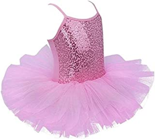 Beautiful Dance Skirt Kids Ballet Skirt Girls Dance Clothes Toddler Practice Clothes Costumes Suspenders Fashion (Color : Pink, Size : Medium)