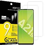 NEW'C 2 Stück, PanzerglasFolie Schutzfolie für Samsung Galaxy A21s, Frei von Kratzern Fingabdrücken & Öl, 9H Festigkeit, HD Bildschirmschutzfolie, 0.33mm Ultra-klar, Ultrawiderstandsfähig
