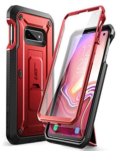 SupCase Hülle für Samsung Galaxy S10e Handyhülle 360 Grad Case Outdoor Schutzhülle Bumper Cover [Unicorn Beetle Pro] mit Integriertem Displayschutz und Ständer 2019 Ausgabe (Rot)