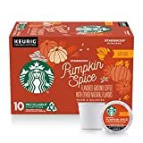 Starbucks Flavored K-Cup Coffee Pods — Pumpkin Spice for Keurig Brewers — 10 Count (Pack of 1)