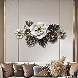 ZHIFENGLIU Metallwandkunst Blumen dekorative Metallwandskulptur Kunsthandhabung Dekor Wanddekoration...