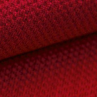 NOVELY PIROW weicher und Zeitloser Polsterstoff | Möbelstoff | feine Textur | WIDERSTANDSFÄHIG | Einfache Verarbeitung und Reinigung 06 Rot