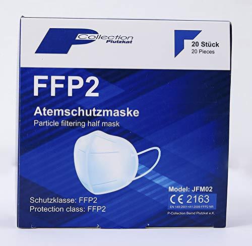 20 x P-Collection FFP2 Atemschutzmaske Zertifiziert nach FFP2-Norm Mundschutz Maske