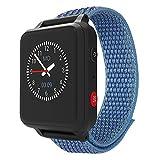 ANIO 5 (blau) - 1.3 Zoll Touch-Farbdisplay - IP67 wasserdichte Telefon Uhr für Kinder - Anrufe, Nachrichten, Schulmodus, SOS-Funktion, GPS, Schrittzähler, Wetter App - Made in Germany DSGVO konform