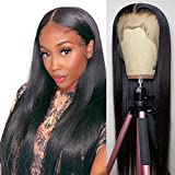 13×4 Lace Front Wigs Human Hair Straight Lace Frontal Wig Pre Plucked 150% Density Straight Human Hair wigs with Baby Hair HAIREASON Brazilian Hair Wigs 28inch