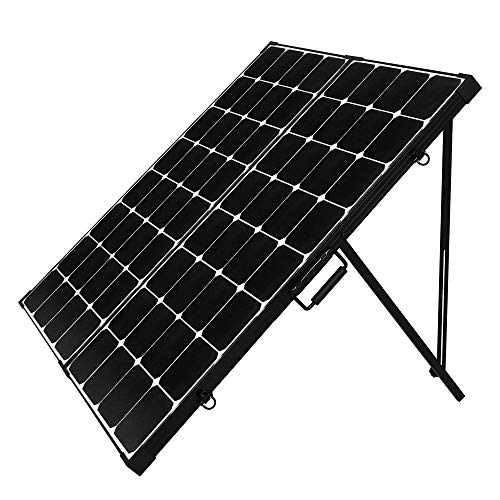 Renogy 200 Watt 12 Volt Eclipse Monocrystalline Off Grid Portable Foldable Solar Panel Suitcase Built-in Kickstand