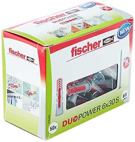 fischer 535459 Duopower 6X30 S DIY/ (Caja Brico de 50 Uds), Senkkopf, Set Piezas